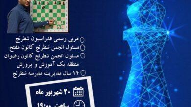 Photo of وبینار آشنایی با مقدمات شطرنج