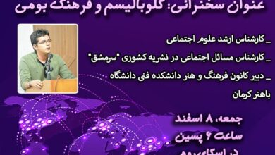 Photo of وبینار با حضور جناب آقای فردین نمیرانیان